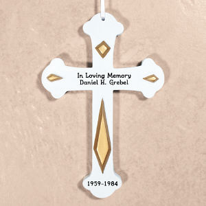 Engraved Memorial Wall Cross L379011GD