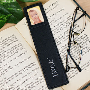Personalized Leather Photo Bookmark