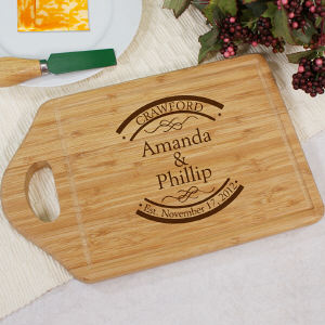 Engraved Established In Bamboo Cheese Carving Board