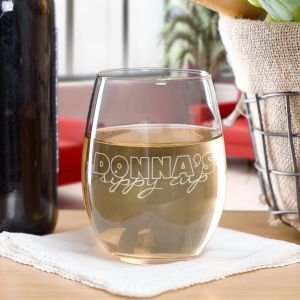 Engraved Stemless Wine Glass L657995
