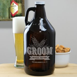 Engraved Groomsmen Wheat Growler
