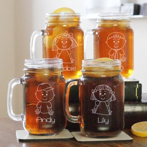 Engraved Family Mason Jar | Personalized Housewarming Gifts