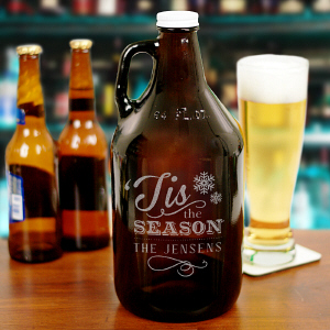 Engraved Christmas Beer Growler