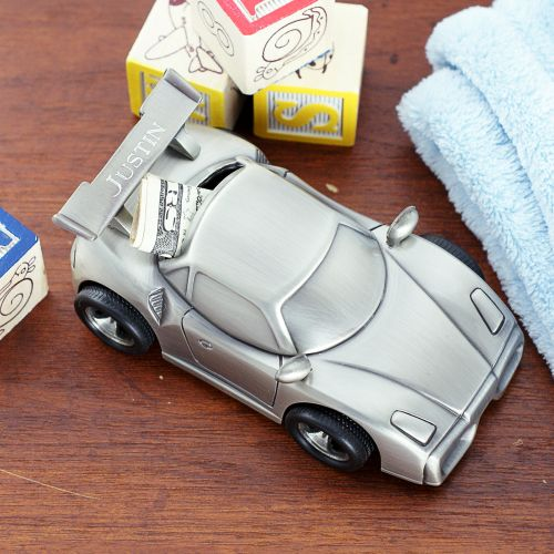 Engraved Sports Car Bank | Personalized Baby Gifts