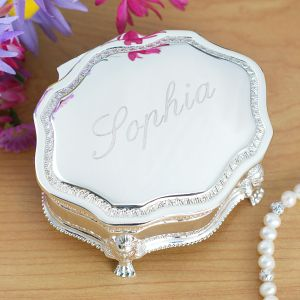 Engraved Princess Jewelry Box | Personalized Jewelry Box