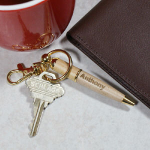 Personalized Pen Key Chain