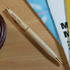 Engraved Name Wood Ballpoint Pen