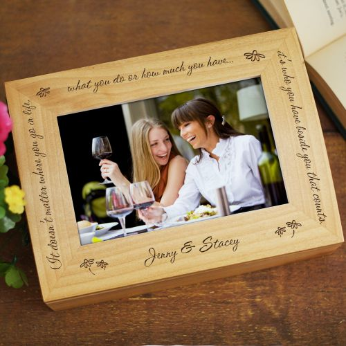 Who You Have Beside You Photo Keepsake Box | Personalized Keepsake box