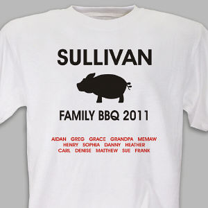 Pig BBQ Family Reunion T-shirt