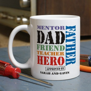 Dad, My Hero Father's Day Coffee Mug
