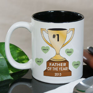Personalized Number One Trophy Mug
