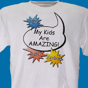 Amazing Kids Personalized Father's Day T-shirt