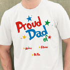 Personalized Proud Dad T-shirt