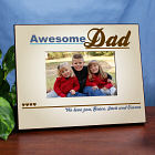 Personalized Awesome Dad Printed Picture Frame