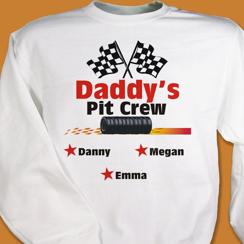 Pit Crew Personalized Sweatshirt