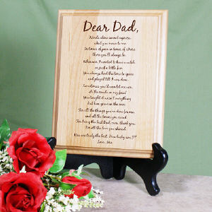 To My Dad... Personalized Keepsake Wood Plaque