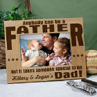 Anybody Can Be...Dad  Personalized Wood Picture Frame