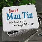 Personalized Man Storage Tin