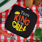 Personalized King of the Grill Hot Pad
