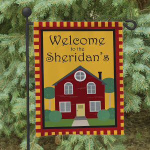 Welcome to Our Home Personalized Garden Flag