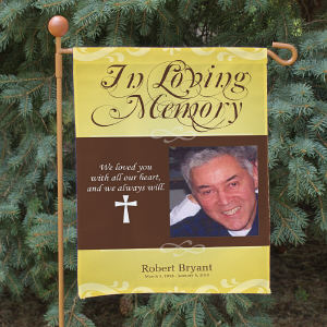 Personalized In Loving Memory Photo Memorial Flag