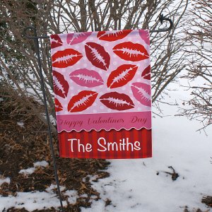 Personalized Happy Valentine's Day Garden Flag