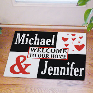 Personalized Couple's Love Doormat