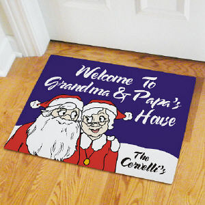 Personalized Santa & Mrs. Claus Doormat