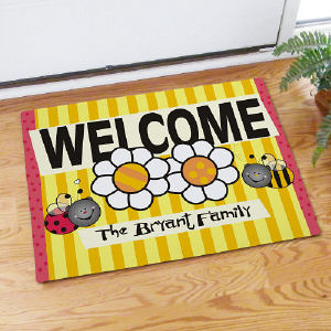 Welcome Bee and Bug Doormat