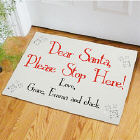 Santa... Please Stop Here Doormat
