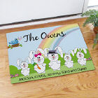 Easter Bunny Family Welcome Doormat