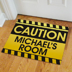 Caution Personalized Doormat