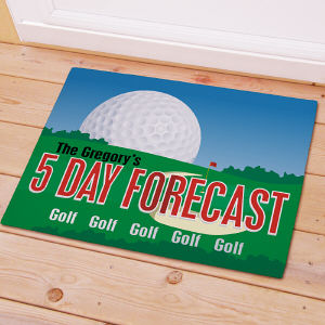 Golf  Doormat  - Personalized Golf Forecast | Personalized Doormats