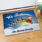 We Believe Christmas Doormat