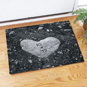 Heart of Stone Doormat | Personalized Doormats