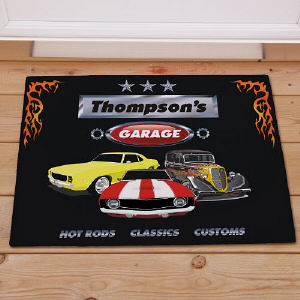 My Garage Personalized Doormat | Mancave Gifts