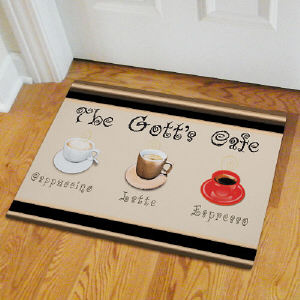 Personalized Cafe Personalized Kitchen Door Mat 83127987