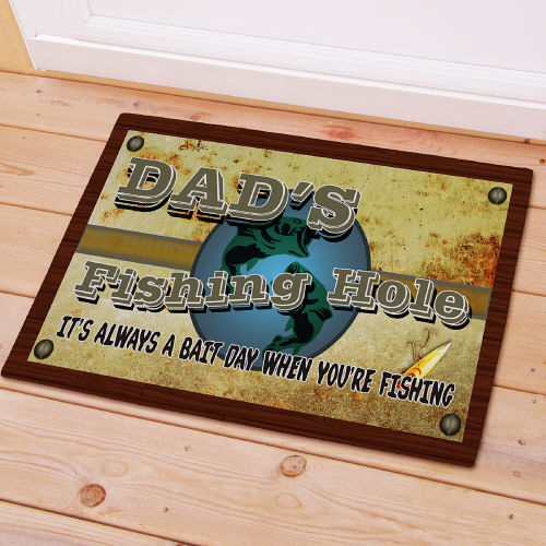 Fishing Hole Personalized Doormat 83128007