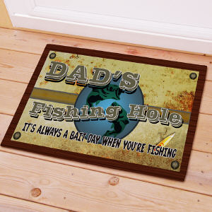 Fishing Hole Personalized Doormat