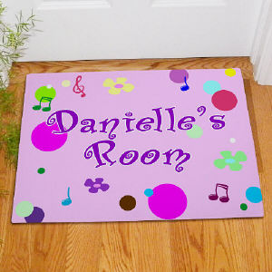 Personalized Girls Room Doormat