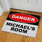 Personalized Danger Doormat