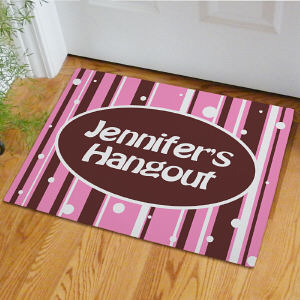 Personalized Girl's Hangout Doormat