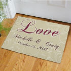 Personalized Love Doormat