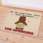 Old Bear and His Honey Personalized Doormat 83132047
