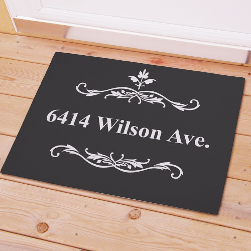 Filagree Welcome Doormat | Personalized Doormats