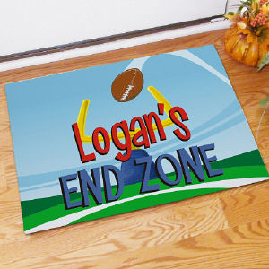End Zone Personalized Doormat