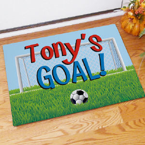 Personalized Soccer Goal Doormat