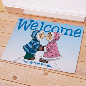 Personalized Eskimo Couple Doormat