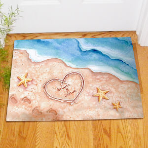 Shores of Love Personalized Doormat