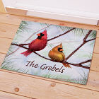 Personalized Cardinals Christmas Doormat 83137587